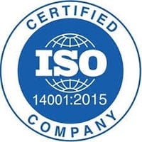 ISO-14001:2015 Certified