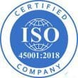 ISO-45001 : 2018 Certified